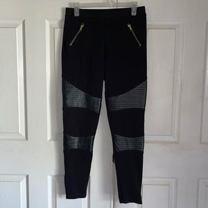 Star Wars Black Quilted Faux Leather Pull On Pants